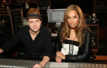 Ryan Tedder and Leona Lewis in Studio